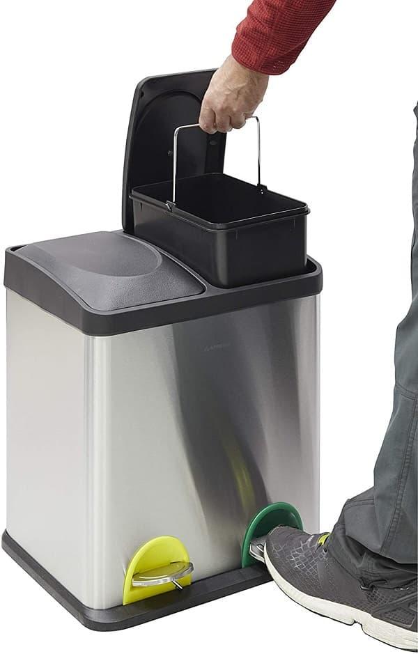 cubos de basura cocina reciclaje