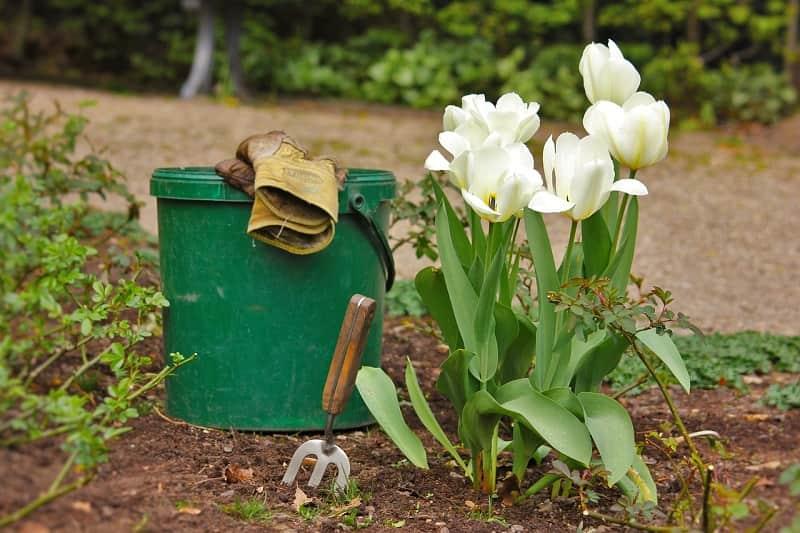 cubos de basura jardinería