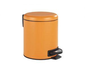 cubo de basura naranja